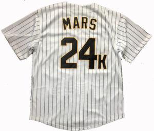 Bruno Mars 24K Hooligans Baseball Jersey Stitched Hip Hop Shirts Jerseys S-3XL