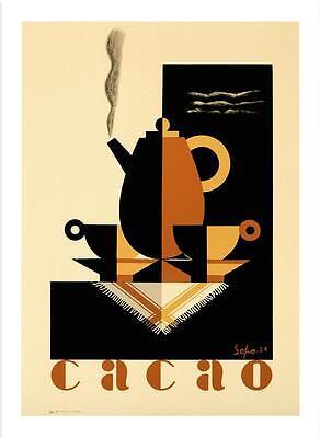 Cacao Poster Fine Art Lithograph Severo Sepo Pozzati S2