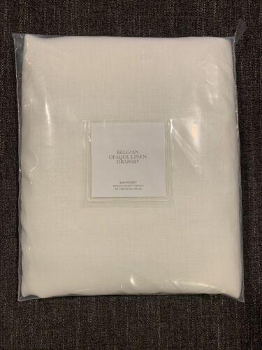 Restoration Hardware Belgian Opaque 100/%Linen Drapery,Rod Pocket-OffWhite 50x108