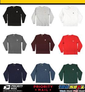 3ac1ba4d Carhartt Mens Workwear K126 Long-Sleeve Pocket T Shirt Heavyweight ...