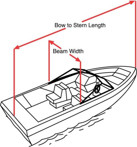 """Rounded Bow Bay CC Boat Trailerable Cover 17/'6/"""" to 18/'5/"""" Max 94/"""" Beam OB"""