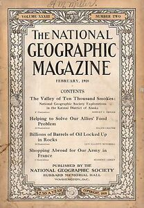 """Resultado de imagen de portada national geographic 1918 february"""""""