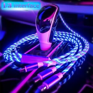 3In1-LED-Flowing-Light-Up-USB-Sync-Type-C-IPhone-Android-Data-Cable-Charger-Cord