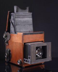 Graflex-Press-5x7-Camera-with-Kodak-Anastigmat-10-inch-F4-5-Lens