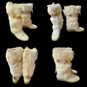 New TECNICA Winter APRES SKI Fur Boots Moose Knit Moccasins 39 8.5