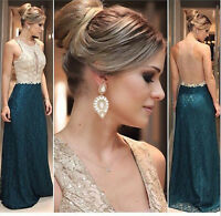 Long Chiffon Bridesmaid Formal Gown Ball Party Evening Prom Dress Custom Size