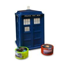 """DOCTOR WHO 4"""" TARDIS WITH POWER ROLLERS GAME AND CHECKLIST  …"""