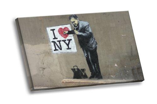 Banksy Street Graffiti I Heart NY Doctor Love New York Giclee HD Canvas Wall Art