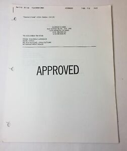 DAWSON-039-S-CREEK-set-used-paperwork-EPISODE-OUTLINE-Season-5-Episode-16