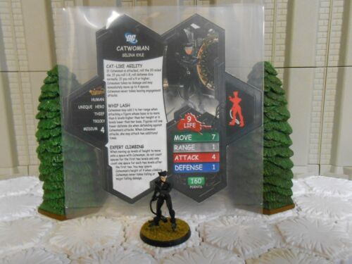 Heroscape Custom Catwoman Double Sided Card & Figure w/ Sleeve DC