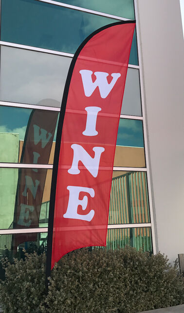 3.5m WINE Replacement Flag / Advertising Banner(Excl. Pole & Base)-Ship Today!