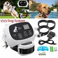 No-wire 1/2/3 Dog Fence Wireless Waterproof Pet Containment System Rechargeable