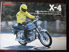BROCHURE CATALOGUE 1980 MOTO SUZUKI GT 125 X 4    PROSPECTUS