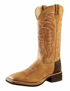 3840d2f374f Details about MEN'S OLD WEST SQUARE TOE CREPE SOLE WESTERN BOOTS BSM1859