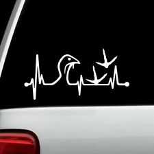 Turkey Hunter Heartbeat Lifeline Decal Sticker For Car Window 8 Inch Bg 236 Call