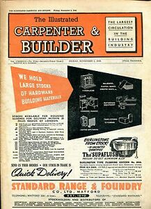 Periodical THE ILLUSTRATED CARPENTER amp BUILDER NOVEMBER 1948 FOUR ISSUES 1948 - <span itemprop=availableAtOrFrom>Llanwrda, United Kingdom</span> - Items may be returned within seven days if found not to be as described. Returns for reasons other than this must be by prior arrangement. Most purchases from business sellers are protec - Llanwrda, United Kingdom