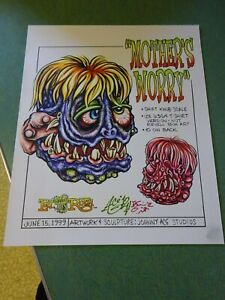 Details About Mother S Worry Only One Original Art By Johnny Ace Rat Fink Ed Big Daddy Roth