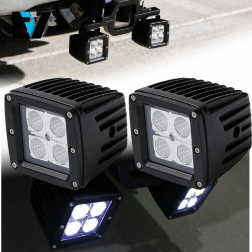 Dual LED Backup Reverse Work Light SUV Offroad Truck Tow Hitch 3Inch LED Pods US
