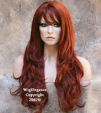 NEW EXTRA Long Flowing wavy Copper Red WIG JSJO 130