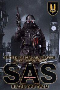 Did Ma1005 Service aérien spécial britannique (sas) Black Ops Team - Sean 1/6 Instock