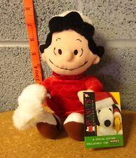 PEANUTS Lucy Van Pelt winter plush NWT holidays toy Christmas doll w/ hand-muff