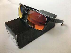 9c3ff541e6cdb Image is loading Oakley-Holbrook-Sunglasses-Black-Decay-Ruby-Iridium