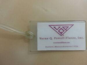 Marque Populaire Verne Q Powell Flute Identification Carte D'identité Nom Adresse Tag Titulaire Flöte Flûte-afficher Le Titre D'origine Attrayant Et Durable