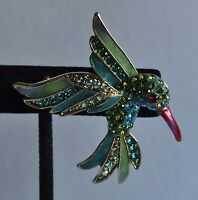 Kirks Folly Hummingbird Pin/converter In Gold Tone