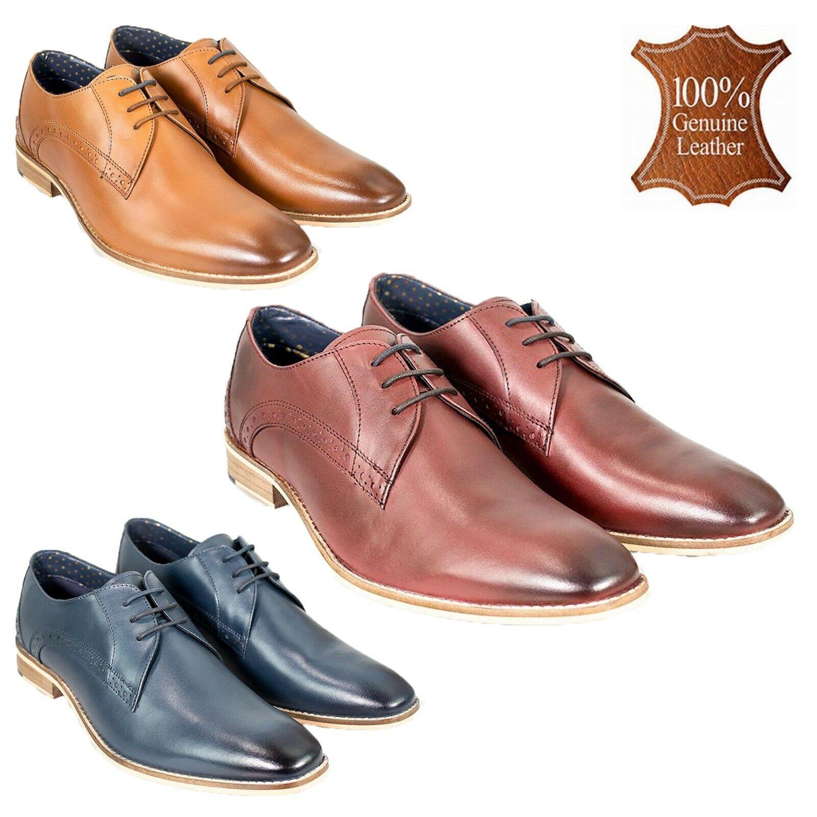 Mens Genuine Leather Italian Brogue schuhe Formal Casual Wedding Footwear