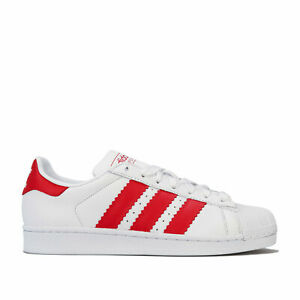 Hommes-Adidas-Originals-Superstar-Baskets-Ftwr-White-Scarlet