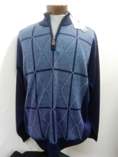 Sweater 1 5xl Zip 4 3xl 4xl Front With Gabicci Navy Size Diamond 2xl tZxdawt