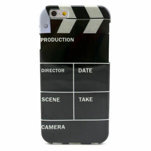 Film-Director-039-s-Cut-Clap-Action-Cinema-Black-Back-Case-Cover-for-iPhone-6-amp-6s