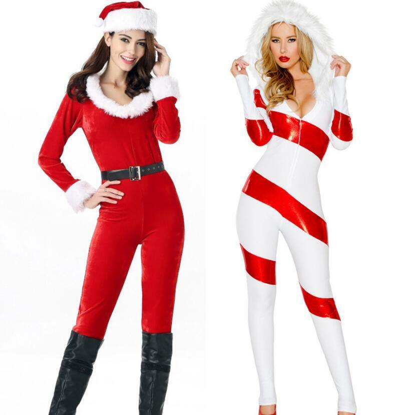 Womens New Christmas Snow Perform Costumes Jumpsuit Party Club Cosplay Sexy Sbox