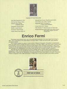 #0140 34c Enrico Fermi Stamp #3533 Souvenir Page