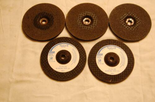"Five Norton NorZori III 4/""X1//4/""X3//8/"" Grinding Wheels 13500 RPM/'s"
