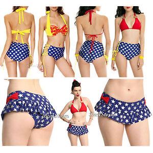 fotos oficiales d3d8d 4d0a4 Detalles acerca de DC Comics Mujer Maravilla Logo Sujetador Bikini Traje De  Baño O Lateral Corbata Bottoms elegir- mostrar título original