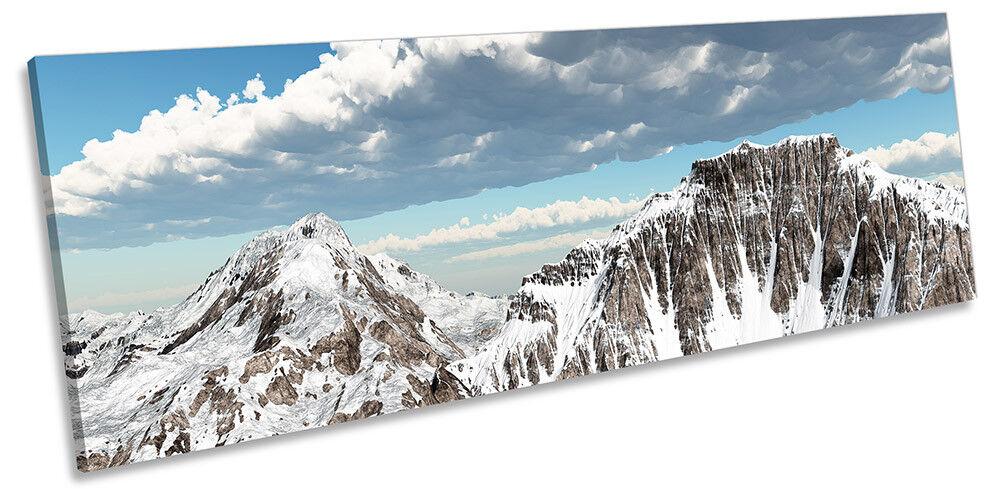 PAESAGGIO montano neve incorniciato PANORAMA stampa art. a muro