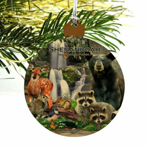 Shenandoah National Park Virginia VA Wood Christmas Tree Ornament