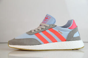 official photos e2510 b04b6 Image is loading Adidas-Boost-Iniki-Runner-Grey-Turbo-Gum-BB2098-