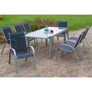 Details Zu Garten Sitzgruppe Für 8 Personen Gartenmöbel Set Alu Gartenstüle Gartentisch