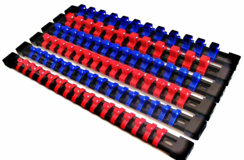 6 GOLIATH INDUSTRIAL ABS MOUNTABLE SOCKET RAIL RACK HOLDER ORGANIZER 1//4 3//8 1//2