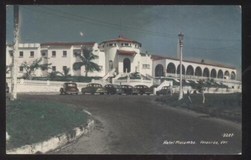 REAL PHOTO POSTCARD VERACRUS MEXICO HOTEL MACOMBO VIEW 1940'S
