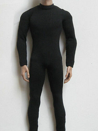 """1:6 Men/'s Black Slim Tight Stretch Leotard Costume Toy Fit 12/"""" Male Action Doll"""