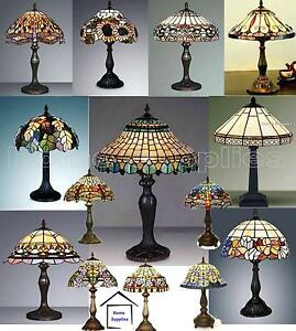 COLLECTION-OF-MEDIUM-SIZE-TIFFANY-STYLE-HANDCRAFTED-TABLE-LAMPS