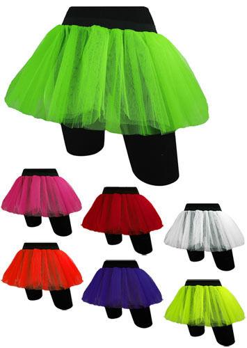 da donna.. Tütü Neon Festa Costume Teens taglia unica NUOVO