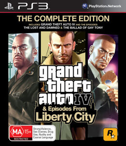 GRAND THEFT AUTO GTA The Complete Edition PS3 Game