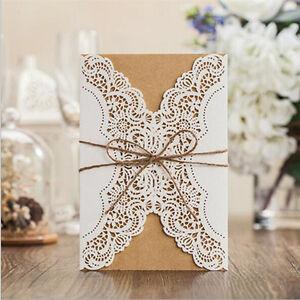 Elegant-Personalised-Laser-Cut-Wedding-Invitation-Or-Evening-Invites-amp-Envelopes