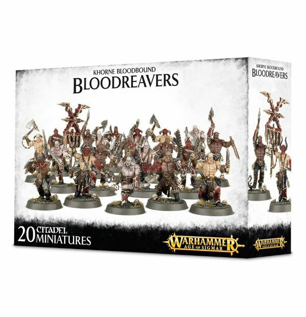 Khorne Bloodbound Bloodreavers Warhammer Fantasy Age of Sigmar Chaos NEW