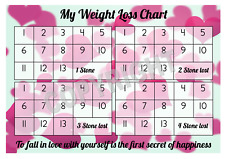 a4 weight loss chart 4 stone 1 sheet of stickers hearts design