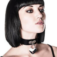 Kill Star Black emily Heart Locket Choker -sale